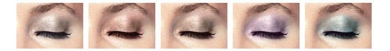 Verkrijgbaar in 5 zachte pastelkleuren: Nude Shimmer, PeachTwinkle,Taupe Glow, Lilac Lustre en Mint Dust.