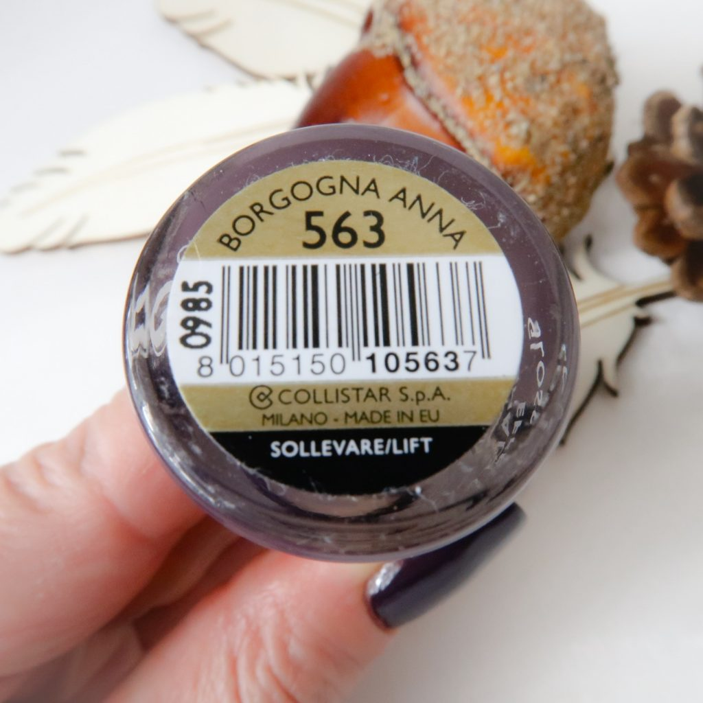 Collistar nailpolish swatched-it purple yustsome nailart borgogne anna natural long nails 1