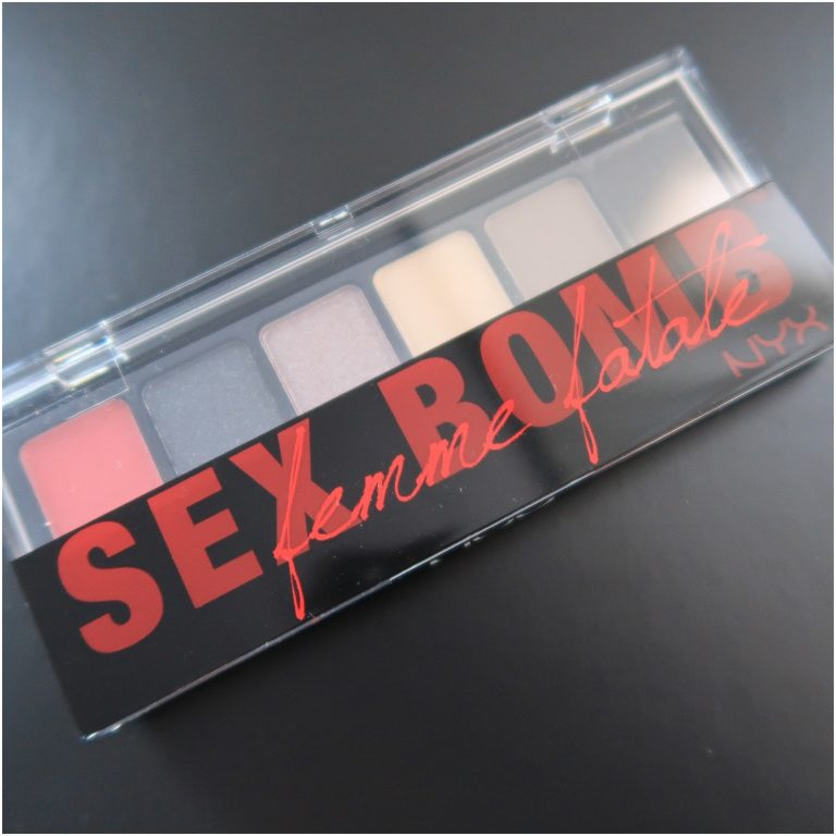 Sexbomb, nyx, cosmetica, oogschaduw, eyeshadow, palette, yustsome, review