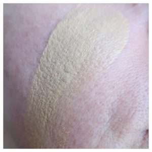 NYX Stay matte but not flat yustsome review shade 02 light skin tone Swatch face