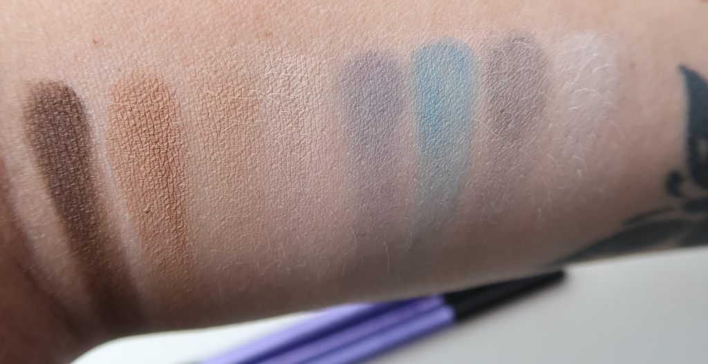 Action, matte, eyeshadow, blue, brown, palette, review, yustsome 2