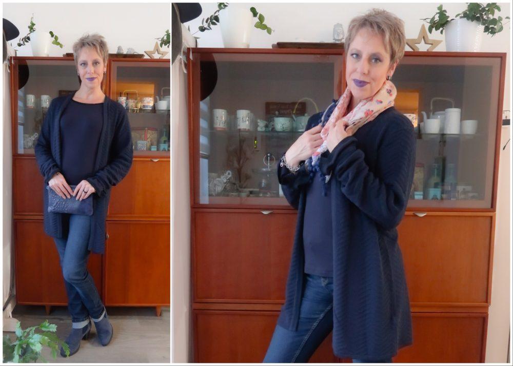 Ms Mode, blauw, vest, wafelpatroon, katoen, blog, fashion, yustsome, mode, review