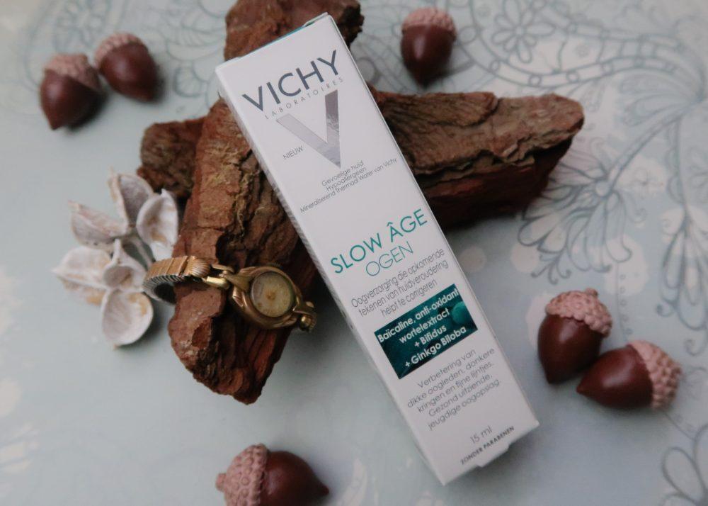 Vichy, slow Âge, oog, contour, wallen, kringen, rimpels, fijne lijntjes, beauty, blog, review, ogen, yustsome