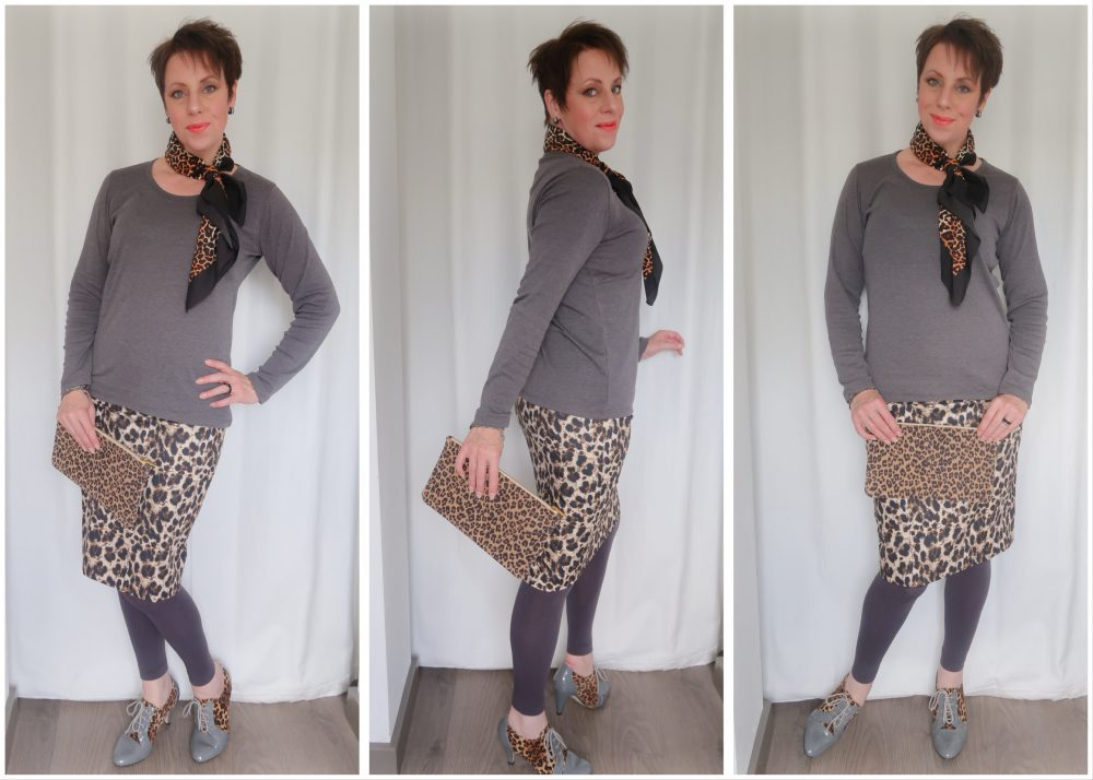 Fashion over 40, fashionblog, blogger, heidi, klum, lidl, skirt, rok, luipaard, panter, dier, print, mode, yustsome