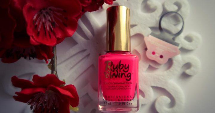 Ruby wing, Poppy, uv, zon, verkleurend, nagellak, color, changing, nailpolish, beauty, blog, yustsome