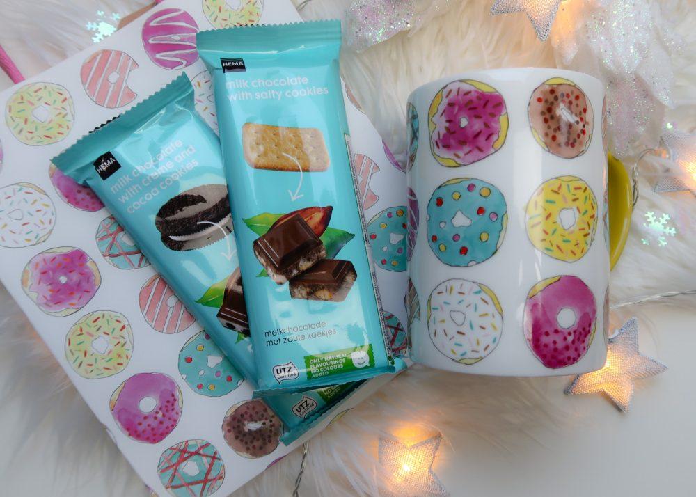 Hema, kerst, cadeau, sint, feest, donuts, chocolade, beauty, limited, edition, yustsome, sterretjes