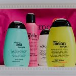 Treaclemoon, bodylotion, douche, bad, beauty, happy melon, calming Sea, grapefruit, cocos, mousse