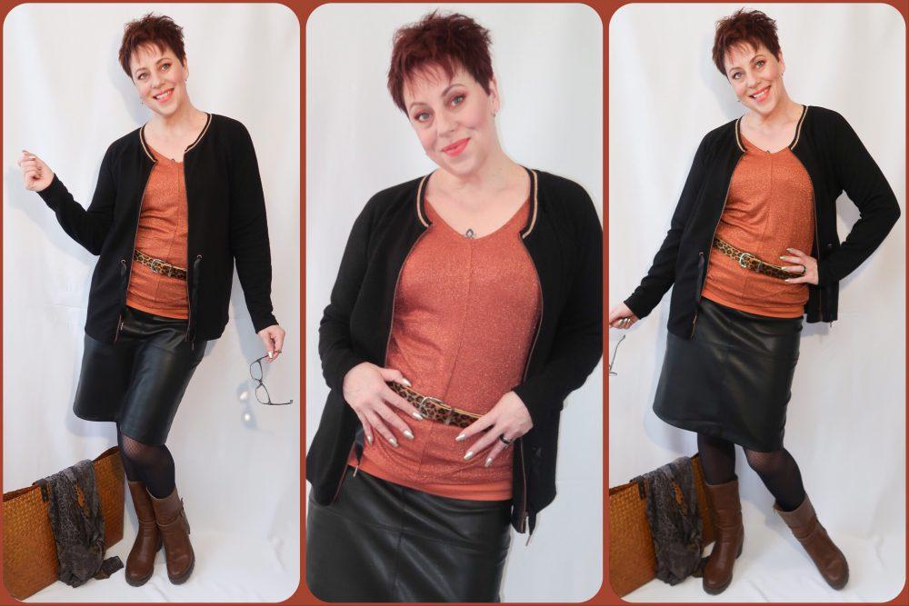 Soya concept, fashion, mode, oker, Rode oker, oranje, modekleur, kleur, fashionista, beautysome, kleding, rok, vest, tas,