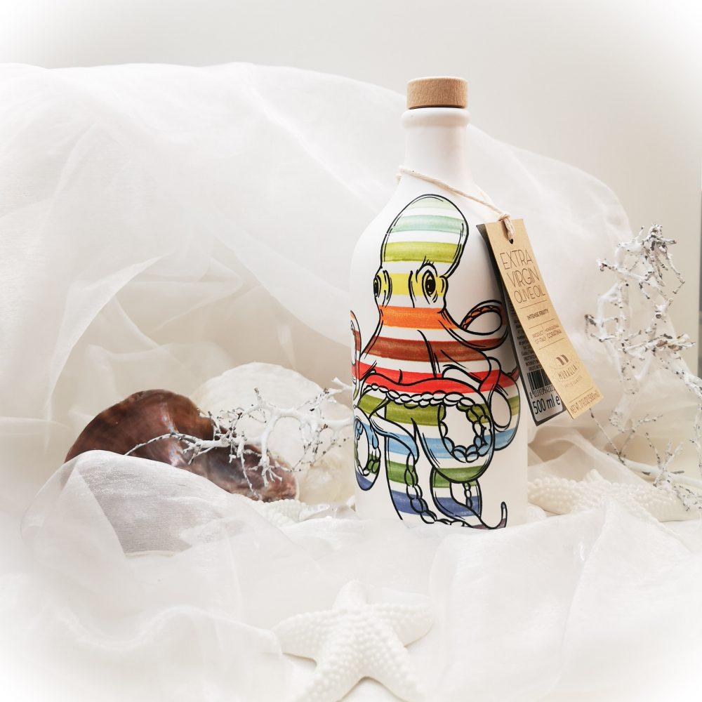 Frantoio Muraglia,olive, oil, olijf, olie, smaak, uniek, handbeschilderde, fles, octopus, design, pop-art, lifestyle, beautysome