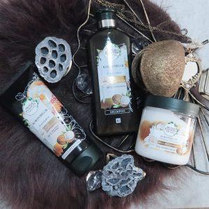Essences, Herbal, shampoo, conditioner, masker, haar, haren, zacht, verzorgd, stug, droog, beschadigd, kokos, cocos, beautysome