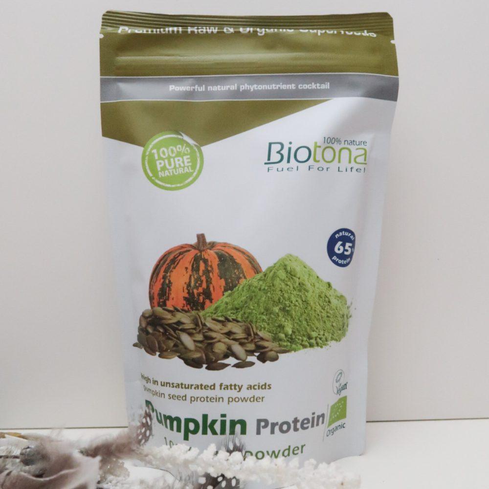 Biotona, afvallen, eiwitten, Vegan, hennep, pompoen, vezels, sporten, sportief, veganist